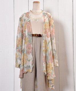 古着Flower Pattern Sheer Gown|花柄シアーガウン  古着のネット通販 古着屋グレープフルーツムーン