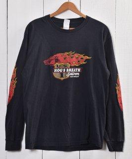 古着 Print Long sleeve T Shirt | プリント 長袖 Tシャツ| ロンT| ブラック系 古着のネット通販 古着屋グレープフルーツムーン