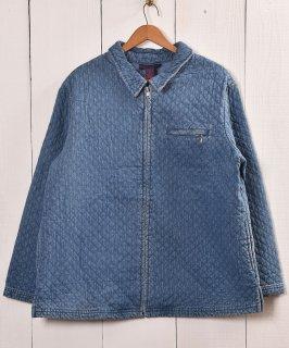古着 Quilting DenimZipUp Jacket | キルティング ジップアップ デニムジャケット  古着 ネット 通販 古着屋グレープフルーツムーン