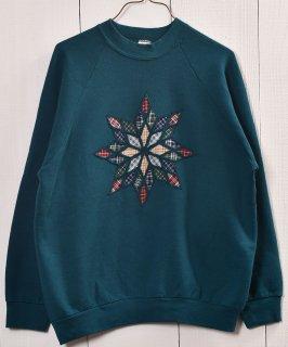 古着 Made in USA  Design Pach Sweat |アメリカ製 パッチワークデザインスウェット 古着のネット通販 古着屋グレープフルーツムーン