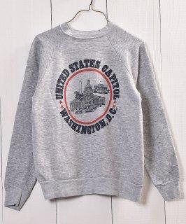 古着 Made in USA WASHINGTON D.C Print Sweat |アメリカ製 プリントスウェット 古着のネット通販 古着屋グレープフルーツムーン