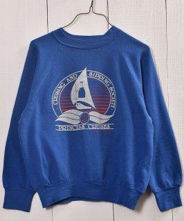 古着 Sea Cruise Print Sweat |プリントスウェット|ブルー系 古着のネット通販 古着屋グレープフルーツムーン