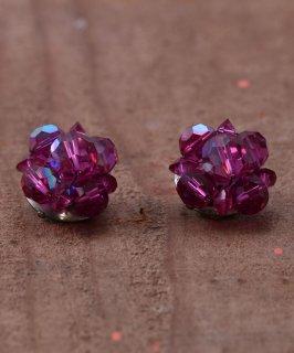 古着 50's〜60's Aurora Glass Beads Earring | 50 年代〜60年代 オーロラグラスビーズ イヤリング | パープル 古着のネット通販 古着屋グレープフルーツムーン