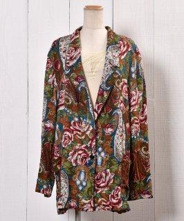 古着 Made in USA  Flower Pattern Tailored Jacket|アメリカ製 花柄 テーラードジャケット  古着のネット通販 古着屋グレープフルーツムーン