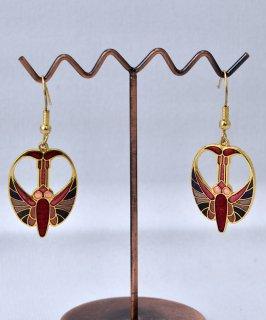 古着 70's~80's Made in USA enamel Butterfly pierced earrings | 70年代~80年代 アメリカ製 七宝焼き 蝶モチーフ ピアス 古着のネット通販 古着屋グレープフルーツムーン