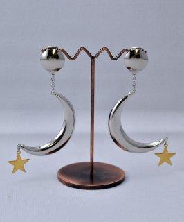 古着 Made in USA Moon×Star Earring |アメリカ製 月×星モチーフ イヤリング | シルバー 古着のネット通販 古着屋グレープフルーツムーン