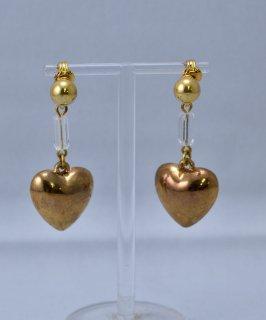 古着 Made in Europe Heart Earring | ヨーロッパ製 ハートモチーフイヤリング |ゴールド 古着のネット通販 古着屋グレープフルーツムーン