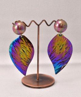 古着Made in Europe Leaf Earring | ヨーロッパ製 葉っぱモチーフ イヤリング  古着のネット通販 古着屋グレープフルーツムーン