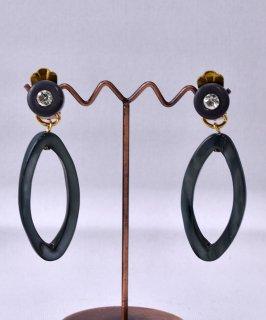 古着 Made in Paris Oval Earring Stone | フランス製 楕円 イヤリング ストーン 古着のネット通販 古着屋グレープフルーツムーン