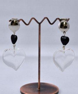 古着 Made in Paris Heart Motif Earring Clear|フランス製 クリア ハート イヤリング 古着のネット通販 古着屋グレープフルーツムーン