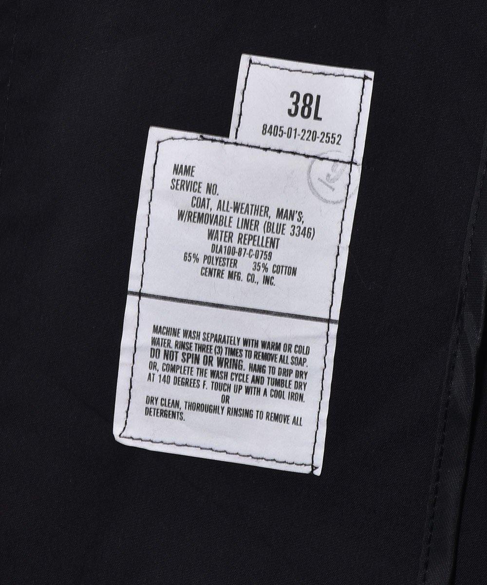 US Miritary Coat | ミリタリー ステンカラーコート | ブラックサムネイル