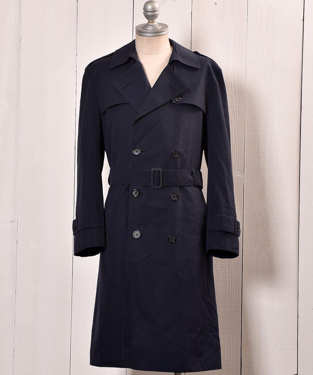 古着 UK Trench Coat   DUNN & CO   MADE IN Britain イングランド製 トレンチコート   ネイビー系 古着 ネット 通販 古着屋グレープフルーツムーン