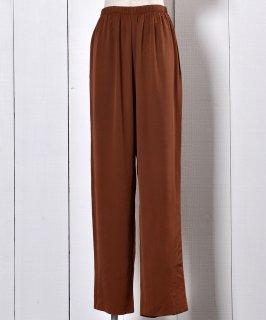 古着Brown Gloss Easy Pants | 光沢 イージーパンツ 茶色 古着のネット通販 古着屋グレープフルーツムーン