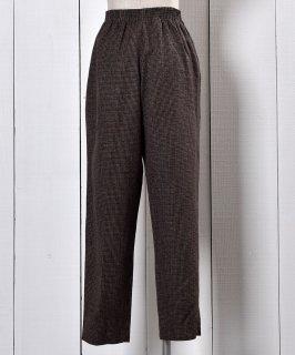古着Brown Check Easy Pants | ブラウン チェック イージーパンツ  古着のネット通販 古着屋グレープフルーツムーン