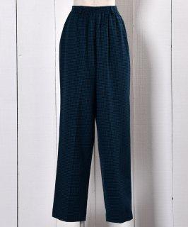 古着Easy Pants | ALFRED DUNNER | 千鳥柄 イージーパンツ|グリーン系 古着のネット通販 古着屋グレープフルーツムーン