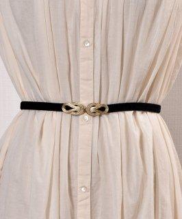 古着 【3Color Available】 Velour Rope Belt| ベロアロープベルト  ブラック 古着のネット通販 古着屋グレープフルーツムーン