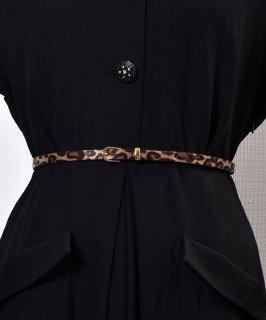 古着 Harako Leopard Pattern Belt|ハラコ風 レオパード柄ベルト 古着のネット通販 古着屋グレープフルーツムーン