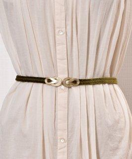 古着 【3Color Available】 Velour Rope Belt| ベロアロープベルト  オリーブ 古着のネット通販 古着屋グレープフルーツムーン