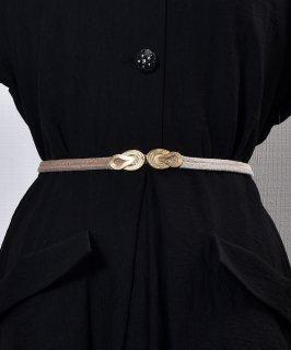 古着【3Color Available】 Velour Rope Belt| ベロアロープベルト  ベージュ 古着のネット通販 古着屋グレープフルーツムーン
