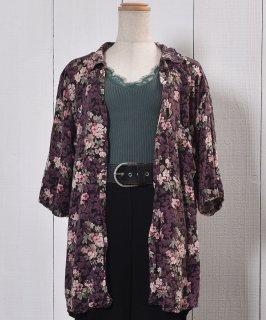古着 Short Sleeve Shirt Cherry Blossom  |半袖 シャツ 花柄 サクラ 古着のネット通販 古着屋グレープフルーツムーン