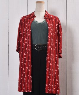 古着Short Sleeve Shirt Flower Pattern  半袖 シャツ 花柄  古着のネット通販 古着屋グレープフルーツムーン