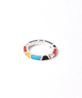 古着Silver Ring Colorful Stone Band | カラフルストーンシルバーリング 古着のネット通販 古着屋グレープフルーツムーン
