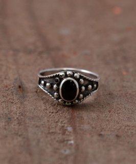 古着Silver Ring  Studs | スタッズ付きオニキス シルバーリング 古着のネット通販 古着屋グレープフルーツムーン