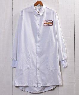 古着 Snap Button Corporate Logo Work Coat|企業ロゴ入りワークコート スナップボタン仕様 ホワイト 古着のネット通販 古着屋グレープフルーツムーン