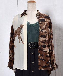 古着 Animal Pattern Shirt|アニマル柄 長袖シャツ 古着のネット通販 古着屋グレープフルーツムーン