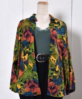 古着 Botanical Pattern Shirt|ボタニカル柄 長袖シャツ 古着のネット通販 古着屋グレープフルーツムーン