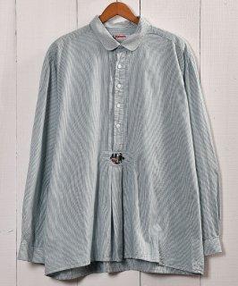 古着 Green×White Stripe Tyrol  Shirt|ストライプ チロルシャツ 古着 ネット 通販 古着屋グレープフルーツムーン