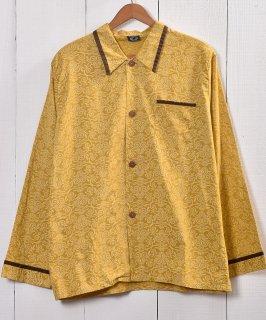古着 Made in Euro Damask Pattern Pajamas Shirt |ヨーローッパ製 ダマスク柄 パジャマシャツ  古着のネット通販 古着屋グレープフルーツムーン