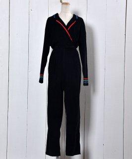 古着 Made in USA Corduroy Long Sleeve  All-In-One  | アメリカ製 長袖 コーデュロイ オールインワン ナポレオンカラー  古着のネット通販 古着屋グレープフルーツムーン