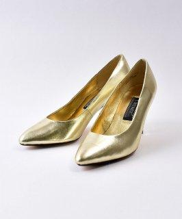 古着 Gold  Leather  Pumps  | ゴールド レザーパンプス  古着のネット通販 古着屋グレープフルーツムーン