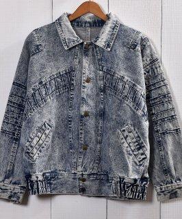 古着 Chemicalwash Denim Jacket | ケミカルウォッシュ デニムジャケット | 古着 ネット 通販 古着屋グレープフルーツムーン