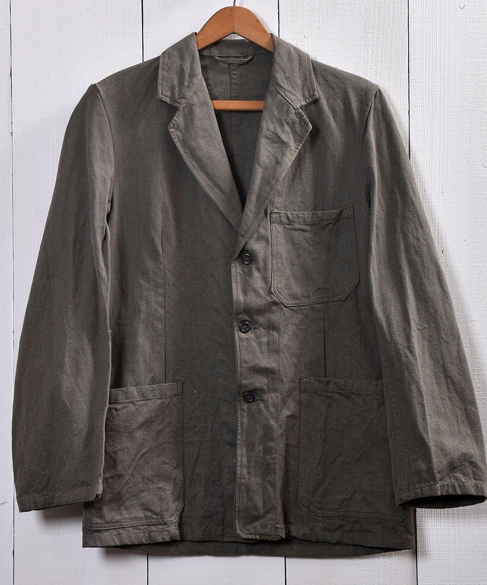 古着 60's Euro Miritary  Prisonar Jacket   Swedish Army    60年代 スウェ−デン製 プリズナー ジャケット  古着 ネット 通販 古着屋グレープフルーツムーン