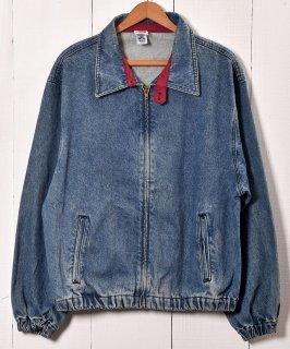 古着 Made in USA Stand Collar Denim Jacket|アメリカ製 デニムジャケット|デニムブルゾン 古着 ネット 通販 古着屋グレープフルーツムーン