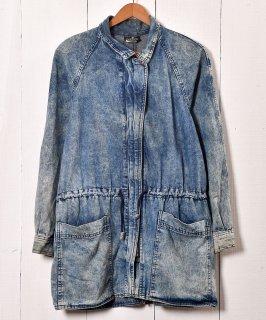 古着 80's Made in USA Chemical Denim Jacket|80年代 アメリカ製 ケミカルデニムジャケット|デニムアウター 古着 ネット 通販 古着屋グレープフルーツムーン