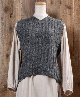 古着Nep V Neck Lib Knit Vest|ネップ Vネック リブ ニット ベスト 古着のネット通販 古着屋グレープフルーツムーン