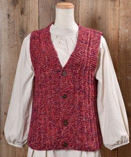 古着Heavy V Neck Vest|ヘビーVネックニットベスト ピンク系 古着のネット通販 古着屋グレープフルーツムーン