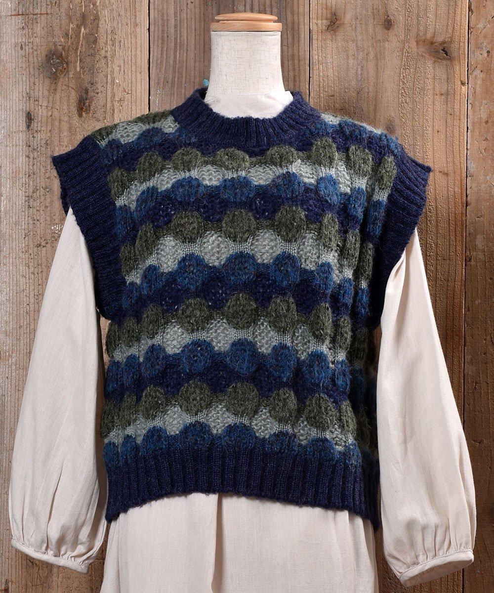 古着 Low-Gage Dot Knit Vest ローゲージ ドット ニットベスト  古着 ネット 通販 古着屋グレープフルーツムーン