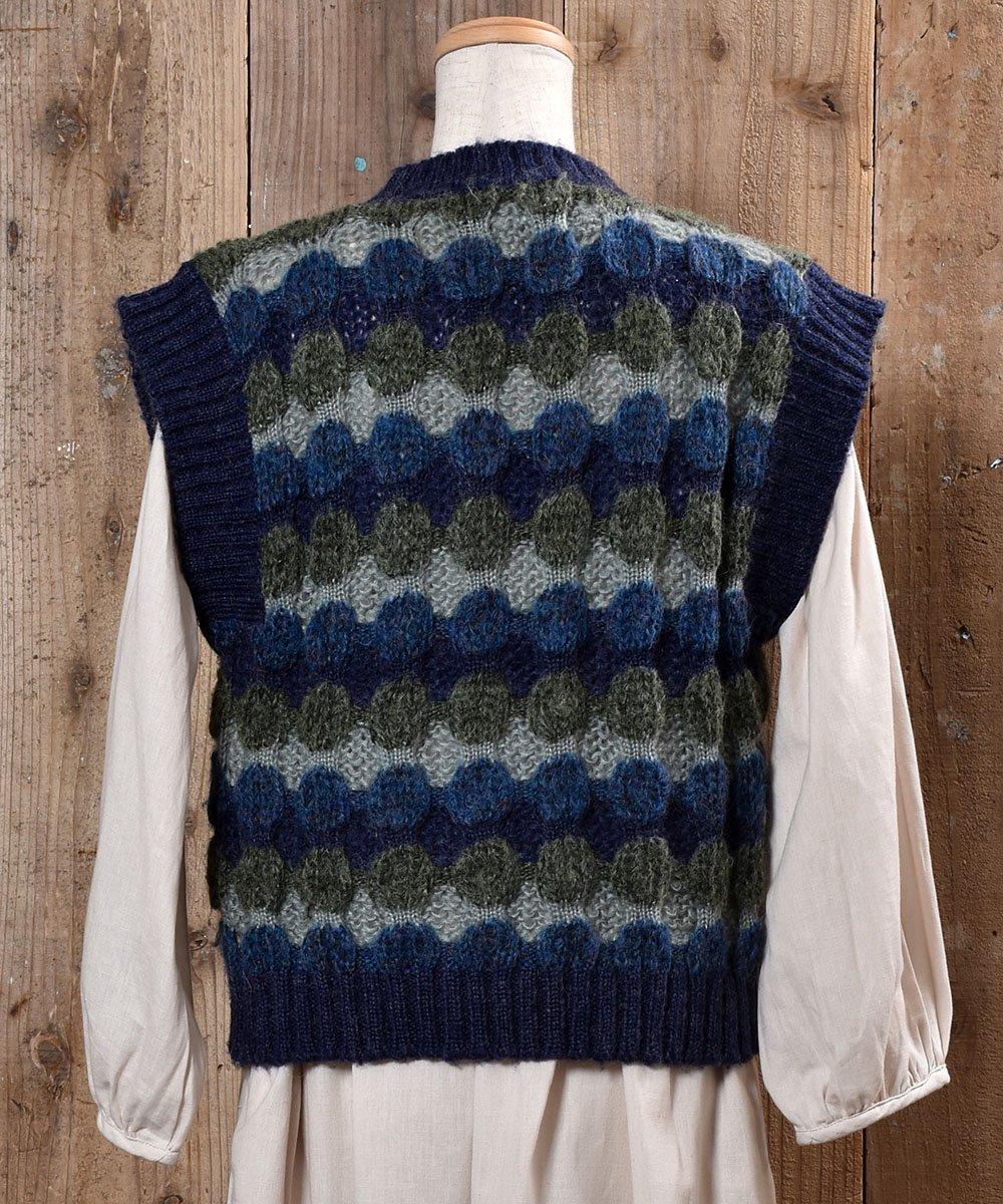 Low-Gage Dot Knit Vest ローゲージ ドット ニットベスト サムネイル