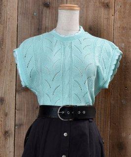 古着Standing Collar Knit Vest|立ち襟 ニットベスト 古着のネット通販 古着屋グレープフルーツムーン
