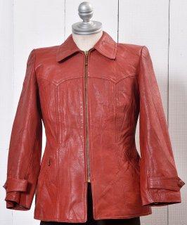 古着 <img class='new_mark_img1' src='https://img.shop-pro.jp/img/new/icons14.gif' style='border:none;display:inline;margin:0px;padding:0px;width:auto;' />70's~ Leder Leather Jacket|70年代 レザージャケット 古着のネット通販 古着屋グレープフルーツムーン