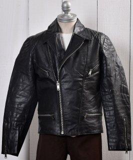 古着 <img class='new_mark_img1' src='https://img.shop-pro.jp/img/new/icons14.gif' style='border:none;display:inline;margin:0px;padding:0px;width:auto;' />Motorcycle Leather Jacket|ダブル ライダース ジャケット|ブラック  古着のネット通販 古着屋グレープフルーツムーン