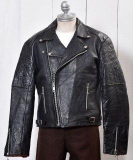古着MADE IN ENGLAND|Motorcycle Leather Jacket|イングランド製 ダブル ライダース ジャケット|ブラック  古着のネット通販 古着屋グレープフルーツムーン