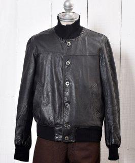 古着 <img class='new_mark_img1' src='https://img.shop-pro.jp/img/new/icons14.gif' style='border:none;display:inline;margin:0px;padding:0px;width:auto;' />Leather Jacket| レザー ジャケット|レザーブルゾン|ブラック  古着のネット通販 古着屋グレープフルーツムーン