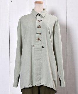 古着 <img class='new_mark_img1' src='https://img.shop-pro.jp/img/new/icons14.gif' style='border:none;display:inline;margin:0px;padding:0px;width:auto;' />Duck Embroidery Tyrolean Shirts|カモ刺繍 チロリアン シャツ  古着のネット通販 古着屋グレープフルーツムーン