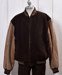 古着 Leather Jacket |切り返し レザー ジャケット ブルゾン型 古着のネット通販 古着屋グレープフルーツムーン