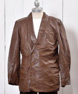 古着 <img class='new_mark_img1' src='https://img.shop-pro.jp/img/new/icons14.gif' style='border:none;display:inline;margin:0px;padding:0px;width:auto;' />Leather Jacket Tailored |テーラード レザー ジャケット ダブルボタン  古着のネット通販 古着屋グレープフルーツムーン
